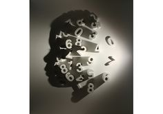 The shadow, comes from the numbers! A sculpture by Kumi Yamashita.