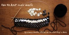 How to knit scale maille.
