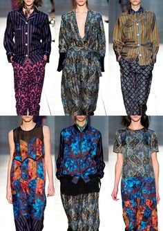 Paul Smith A/W 2014/15-Wallpaper Inspired Prints – Damask Jacquards - Persian Carpets - Colour Blocked Prints – Pinstripe Mixes – Foulards & Paisley Elements – Polka Dot Use