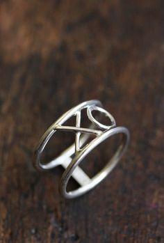 XO ring jewelry sterling silver