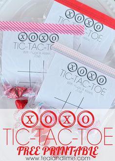 XOXO Tic-Tac-Toe {Printable}