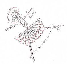 Crochet ballerina applique free pattern