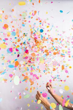 flying confetti