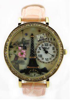Paris Eiffel Tower watch #pink