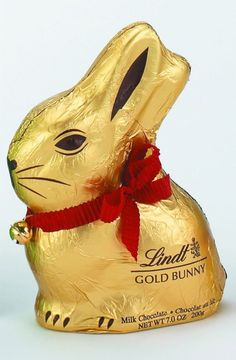 The Lindt Gold Bunny. A symbol of Easter. Lindt Bunny Birthday Party 3/8/2012 who want to have one?