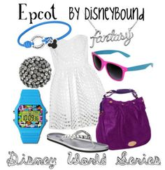 . disney outfits, walt disney, fashion, style, park, epcot, inspired outfits, disney bound, disneybound