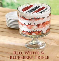 blueberri trifl, red, trifles, white, 4th of july