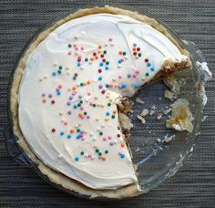 cookie/cake/pie. it's everything all in one. I made it with a graham craker crust.