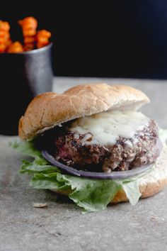 jalapeno popper stuffed burger from @Lauren Keating {Healthy. Delicious.}