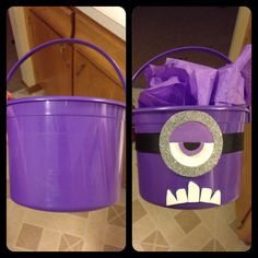 Evil minion centerpieces... Before and after!