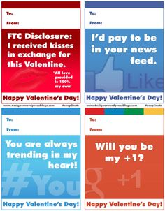 Valentines for the blogging and social media nuts in your life!