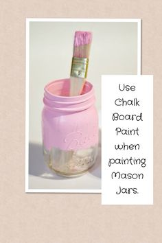 Mason Jar DIY Note!