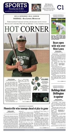 Kyle Lowery of Methacton was named the 2014 All Area Baseball Player of the Year. Read more at http://www.gametimepa.com/Sports/ci_26120195/BASEBALL:-Methactons-Kyle-Lowery-is-AllArea-Player-of-the-Year