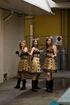 cosplay, bridesmaids, doctor who costume girl, halloween costumes, costume ideas, geeky costumes, dalek costume, doctor who girl costumes, geeki costum