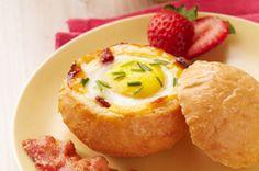 Cheesy Egg-in-a-Bowl recipe