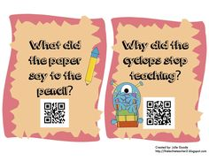 The Techie Teacher: May QR Code Riddles Freebie