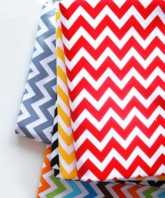 Use any of these colors in the Chevron pattern to make DIY letter shirts