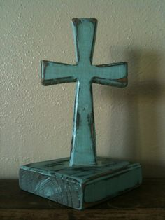 These wooden crosses are handmade and come in a variety of finishes.