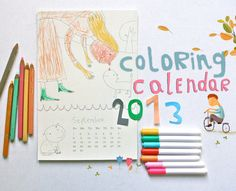 COLORING  2013  Calendar