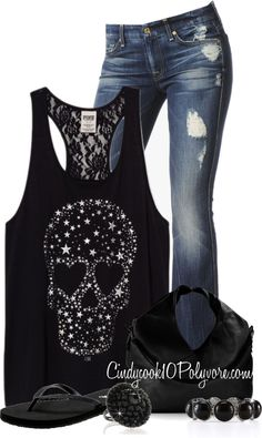 """VS Tank"" by cindycook10 ❤ liked on Polyvore. This would be for a casual night out."