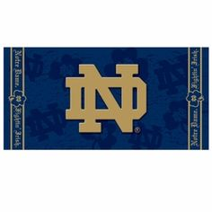 Notre Dame Navy Beach Towel :: I NEED THIS FOR FLORIDA!