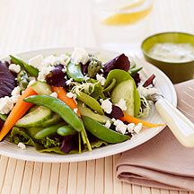 Spring Vegetable Salad with Butter milk Dressing