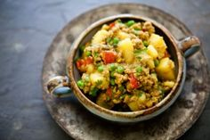 Curried Ground Turkey with Potatoes - Sweet Potatoes instead
