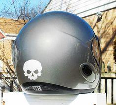 Little Skull Hyper Reflective Decal Motorcycle Helmet Safety Sticker