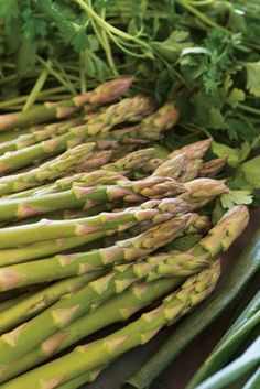 Grilled Scallions and Asparagus recipe