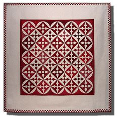 """Red and White Nine Patch"" quilt by Marsha Bray"