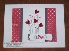 Valentine Glimmer Hearts by ByPatricia - Cards and Paper Crafts at Splitcoaststampers