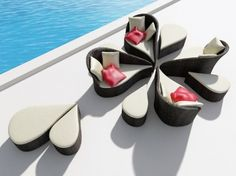 flower shaped chair outdoor seating, chair, pool furniture, patio sets, outdoor patios, garden furniture, flowers, pools, design