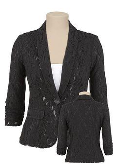 #Lace Blazer  Blazer and shorts  #2dayslook #fashion #nice #Blazershorts  www.2dayslook.com