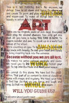 The Artist Manifesto: Will You Create?