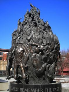 Skeletons in a fire - Baltimore Holocaust Memorial