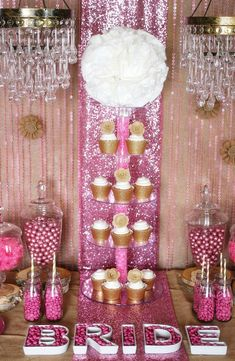 Trend Alert: Rustic Glam Pink & Gold Dessert Table  styled by Soiree Event Design for Koyal Wholesale