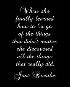 """Just Breathe - Motivational Inspirational Quote - Art Poster Print - 8""""x10"""". $15.00, via Etsy."""