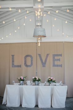 burlap wall covering idea | photo by Kristyn Hogan
