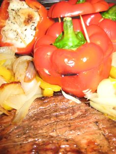 red pepper, grill, side dish