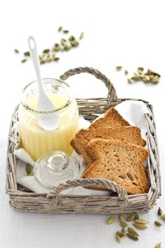 lemons, lemon curd, breakfast, food, honey butter