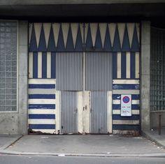 stripes & chevron door
