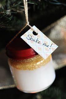 Silver & Gold Snow Globe       #DIY #Christmas #ornament
