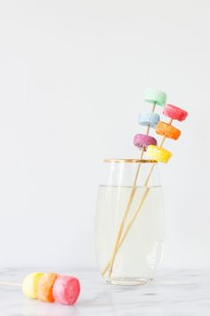 DIY Marshmallow Drink Stirrers