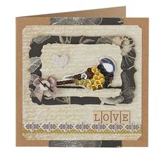 Gorgeous card idea from @Julie Kirk  –try using sequins to build up shine and dimension on printed papers and toppers! From Papercraft inspirations June 2014.