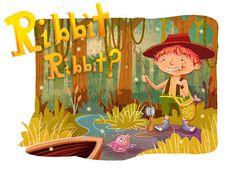 --- Rainey Doodles ---: Adobe Illustrator Painting Experiment - Gone Fishing