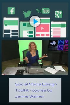 """Social Media Design Toolkit by Janine Warner - """"Learn how to combine engaging images, fundamental Photoshop skills, and your own artistic point-of-view to make your social media presence more visually engaging and unique."""" #entrepreneur #marketing - A CreativeLive course http://friends.creativelive.com/SH7T"""