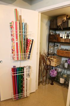 Craft Room Organization - Wrapping Paper