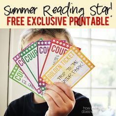 Summer Reading Star! FREE EXCLUSIVE PRINTABLE www.howdoesshe.com