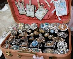 Belt buckles made from vintage part  My favourite!!  Have a look at http://vintage2creations.blogspot.com  as she is making fabulous vintage jewelry
