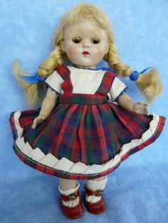 Sweet 1950-1953 painted lash Vogue Ginny Doll with Original Clothing